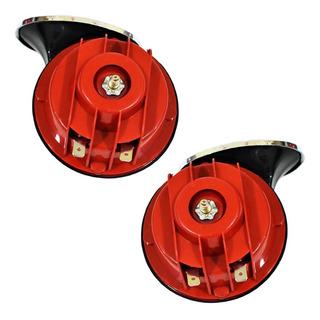 2 Claxon Doble Tono Rejilla Caracol Universal