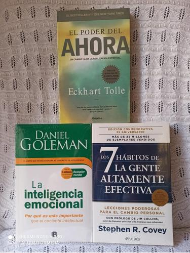 Imagen 1 de 4 de Paq De Libro Elpoder Del Ahora + 7 Habitos + La Inteligencia