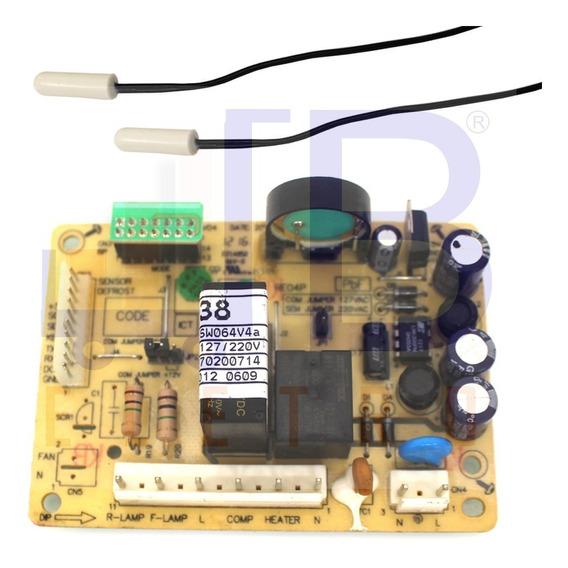 Kit 1 Placa Potência 2 Sensores Geladeira Electrolux Rfe38