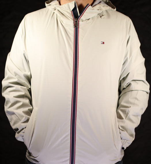 Chamarra/impermeable Tommy Hilfiger Hombre Gris Claro