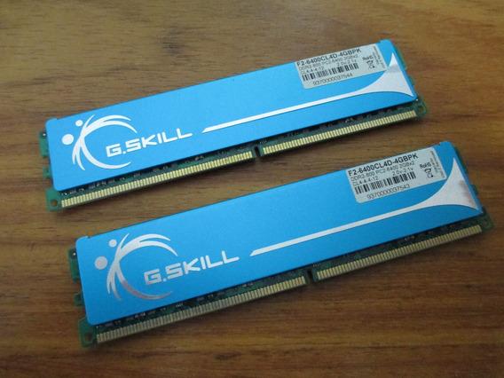 Duas Memórias G.skill Ddr2 800 - Pc2-6400 - 2gb Cada