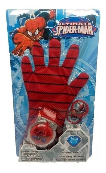Relógio Lançador Com Luva E Discos Vingadores - Homem Aranha