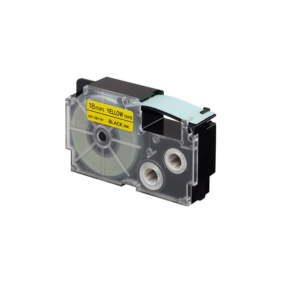 Cinta Para Rotulador Casio Xr-18yw1 18mmx8m Negro/amarillo