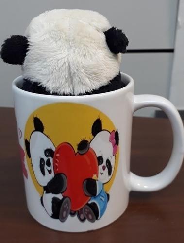 Presente Romântico Namorada Urso Panda Com Caneca I Like You