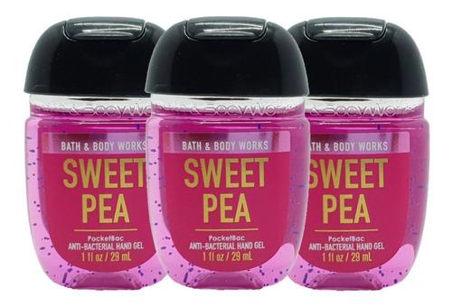 Gel Antibacterial Bath & Body Works Sweet Pea Kit 3pz