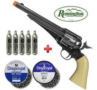 Remington 1875 Co2 Dual Ammo 4.5mm + Chumbinho E Esferas Aço