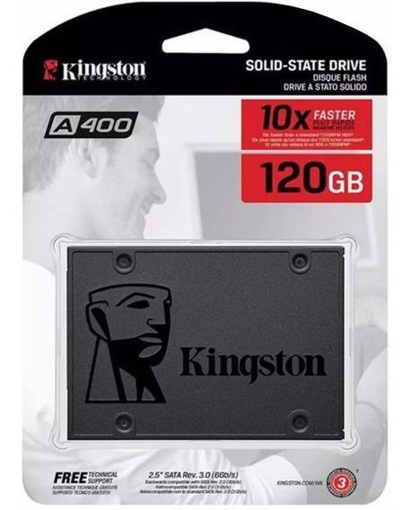 Ssd Kingston 120gb Ssdnow A400 Sata 3 6gb/s 500mb/s