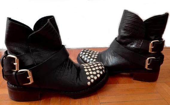 Borcegos Botas Botinetas Zapatos Sarkany Prune Blaque Oferta