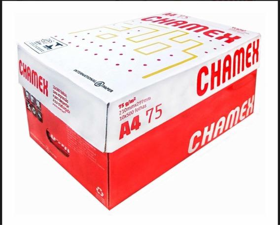 Papel Sulfite A4 (210 X 297 Mm) Chamex 75g 10 Pctx500 Fls