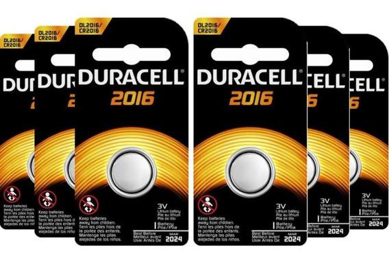 Kit Bateria De Lítio Metálico Cr 2016 Duracell C/ 6 Unidades