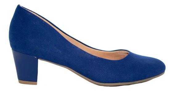 Zapatos Clásicos Mujer Azul Klein Ramarim Taco Bajo.