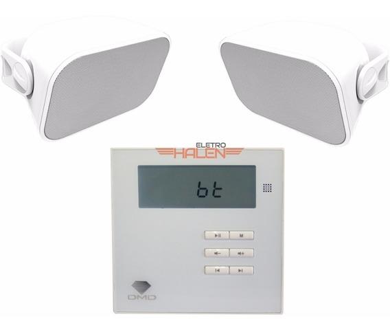 Kit Som Ambiente Amplificador Dm835 + Par De Caixas Aw6 Bsa