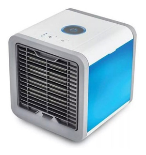 Mini Ar Condicionado Ventilador Portátil C/ Lâmpada Colorida