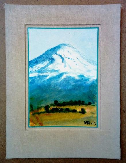 Arte. Dibujo. Acuarela. «el Popo». Original Del Artista.