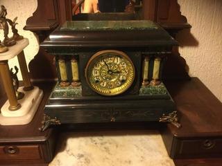 Reloj De Chimenea Ansonia Del Cuerda 30s