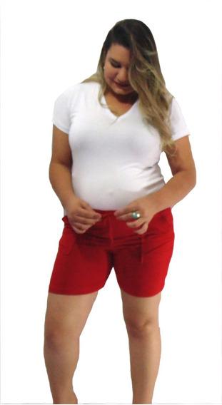 Roupa Feminina Short Gestante Gravida Plus Size Malha