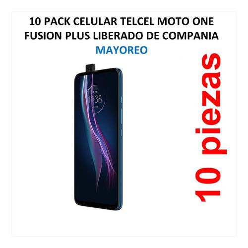 Imagen 1 de 5 de 10 Pack Celular Telcel Moto One Fusion Plus Liberado De Comp
