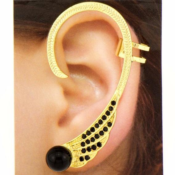 Brinco Ear Cuff Asa Dourado