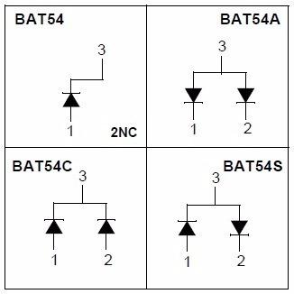 Diodo Smd Bat54c Smd Ww1 - 10 Peças