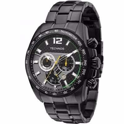 Relógio Technos Cronografo Carbon Lindo + Frete
