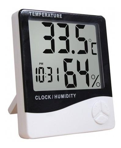 Termo-higrômetro Digital Com Relógio,alarme,calendário Py45