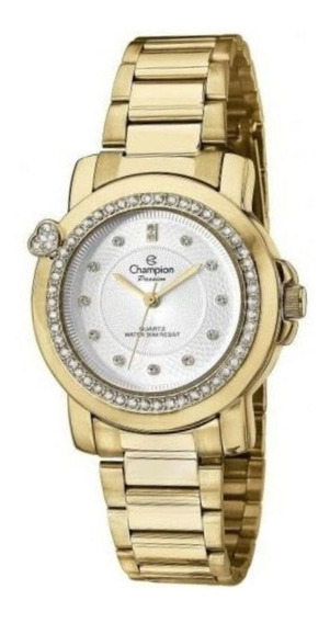Relógio Champion Passion Feminino Dourado Cn29141h - C/ Nfe