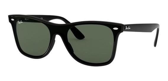 Lentes Ray-ban 0rb4440n Blaze Wayfarer Negro Matte Verde