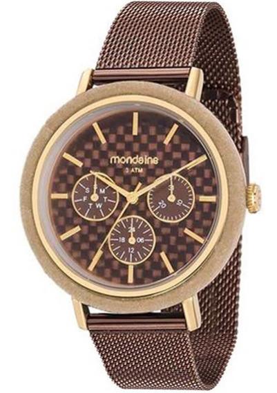 Relógio Feminino Mondaine 89011lpmvae2 Marrom