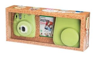 Kit Cámara Instantánea Instax Mini 9 Verde+10 Fotos+estuche