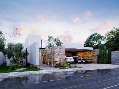 Increible Residencia De Una Planta En Privada Artisana. 4 Habitaciones. Temozon
