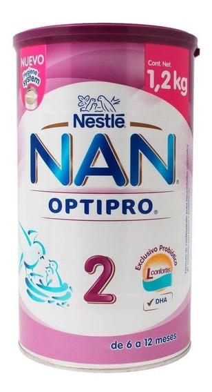 Fórmula para lactantes en polvo Nestlé Nan OptiPro 2 en lata de 1.2kg