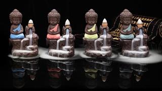 Quemador Incienso Tipo Cascada Buda + 20 Inciensos Especiale