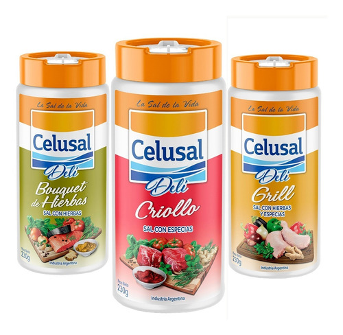 Pack Sal Celusal Deli. Bouquet De Hierbas, Criollo Y Grill