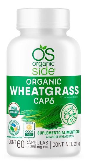 Wheatgrass Hierba De Trigo Orgánico 60 Cápsulas