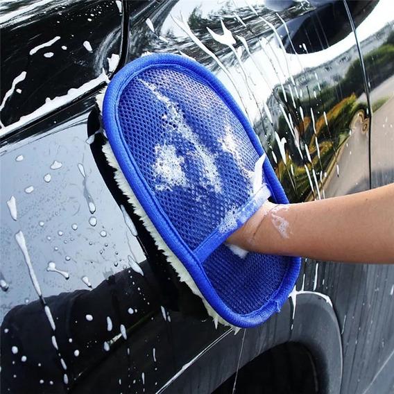 Luvas De Lã P/ Lavar E Encerar Carro Moto Moveis Acessórios