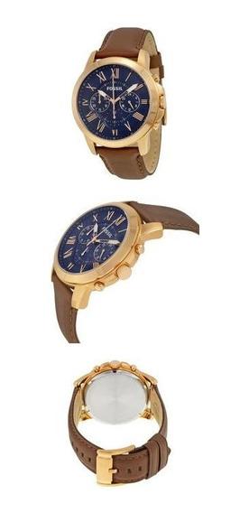 Relógio Fossil Bronze Com Couro Fs5068/3an