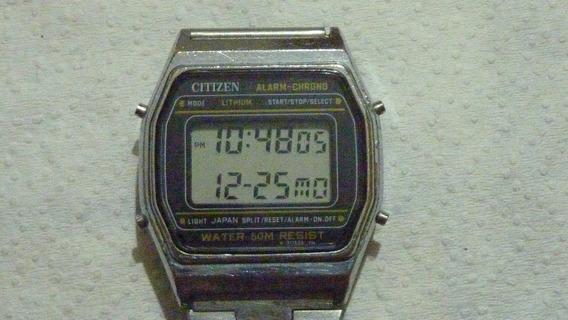 Citizen Alarm - Chrono P110 Vintage Anos 80perfeito Lithium