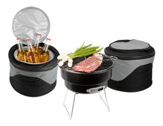 Mini Asador Parrilla Grill Carbon + Hielera Portatil Camping