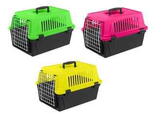 Jaula Transportadora Para Perros Y Gatos 6kg Neon Colors
