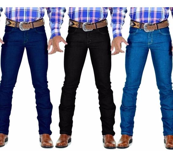 Kit 3 Calça Jeans Masculina Country Lycra Model/rodeio Avant