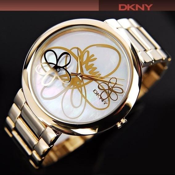 Relógio Feminino Dourado Original Donna Karan Dkny Prova Dag