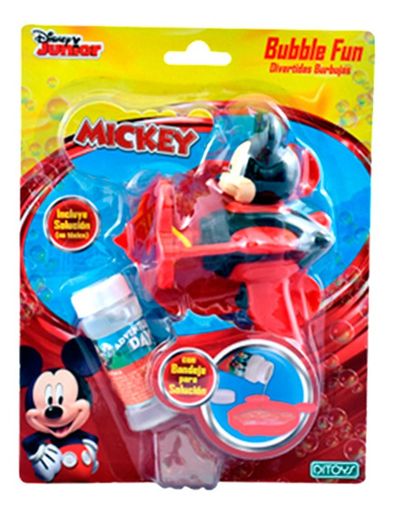 Mickey Burbujero Bubble Fun Original Ditoys Full