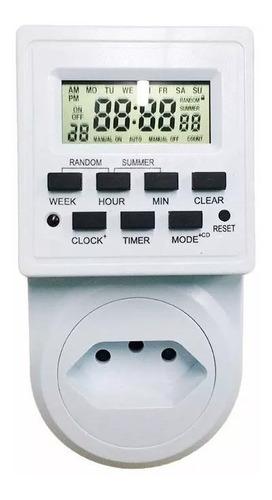 Timer Digital E Temporizador Tomada Energia Bivolt 2200w 10ª