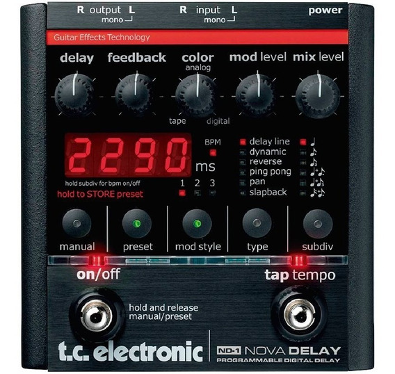 Pedal De Guitarra Tc Electronic Nova Delay Digital Nd-1