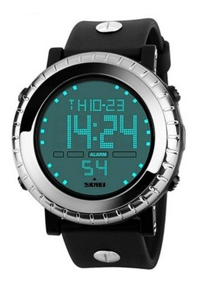 Relógio Masculino Skmei Digital 1172 Pulseira Preta