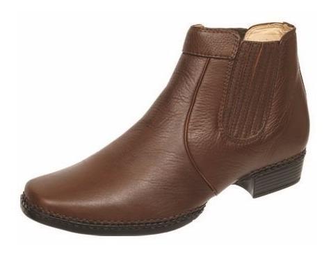 Sapato Masculino Alcalay Bota Botina Coturno De Couro