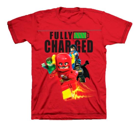 Playera Para Niño Lego Estampado Liga De La Justicia