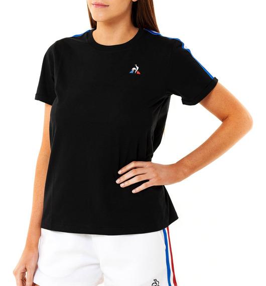 Remera Ess Stripe Negro Mujer Le Coq Sportif