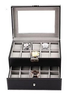 Boby - Caja Organizadora De Relojes Para Hombres Y Mujeres D