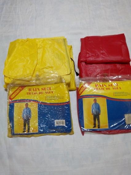 Trajes Lluvia Rain Suit Nro.6- Ideal Pareja-rojo-amarillo